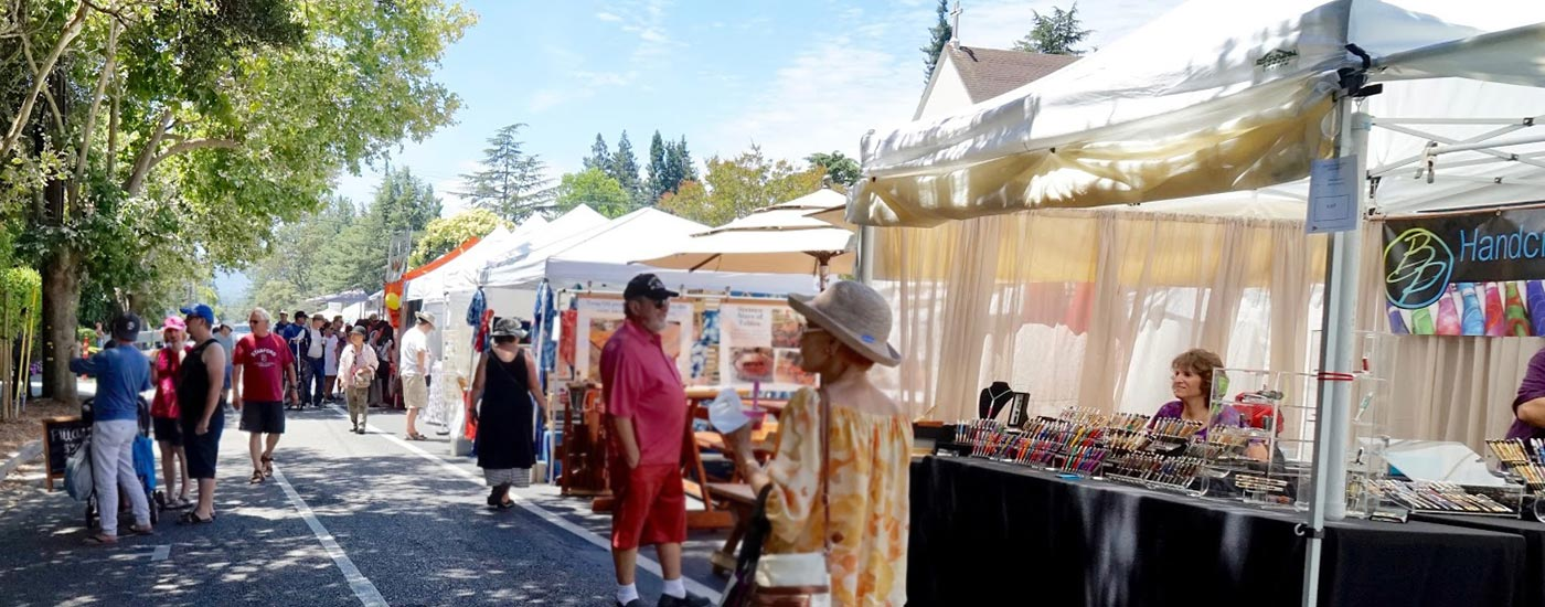 fun for all ages at Menlo Summerfest in downtown Menlo Park, California