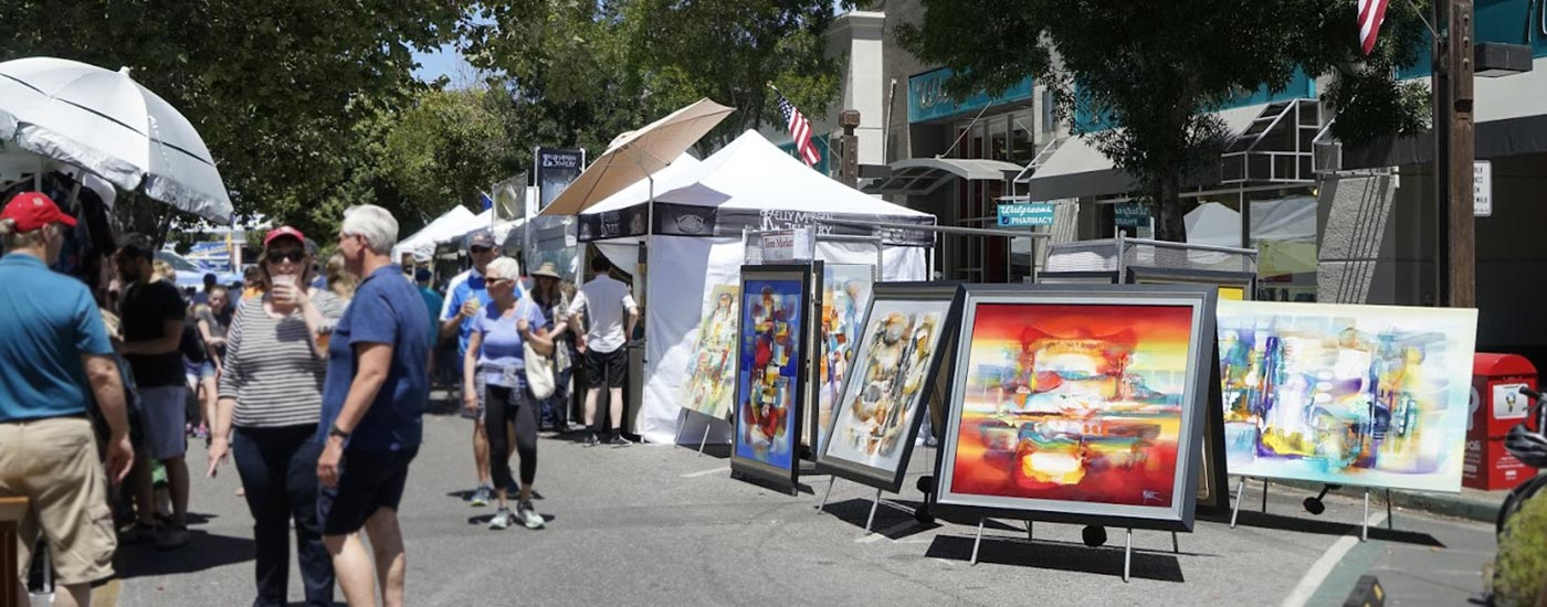 Summer Vibe Art Contest at Menlo Summerfest in downtown Menlo Park, California