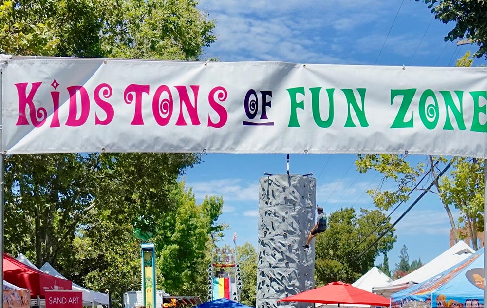 Kidz Funzone at Menlo Park summer festival of arts and music