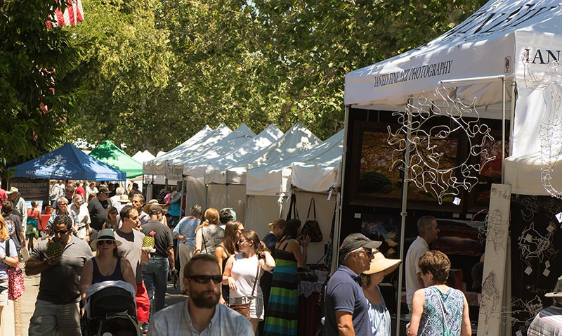 arts and crafts festival in Menlo Park