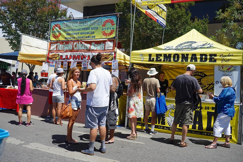 fabulous festival food at Menlo Park Summer Fest in June