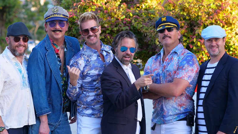 live music on stage and street throughout the 2-day annual street festival, including popular band Mustache Harbor