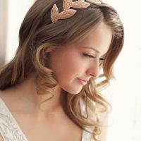 Lydia Choi hair adornments - beaded leaves headband