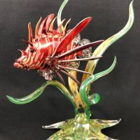 Shawn Tsai art glass lionfish